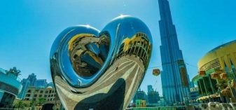 new heart sculpture in Dubai